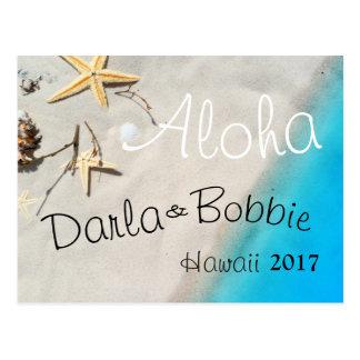 tropical  beach sand postcard