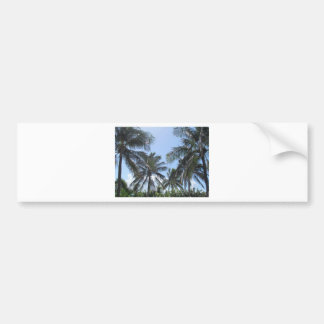 Tropical Beach Scene Bumper Sticker