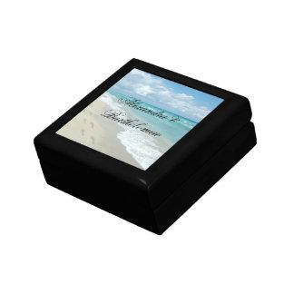 Tropical Beach Scene Personalized Keepsake Gift Box