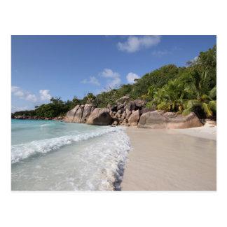Tropical Beach, Seychelles, Indian Ocean Postcard