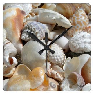 Tropical Beach Shells Photography Wall Clock