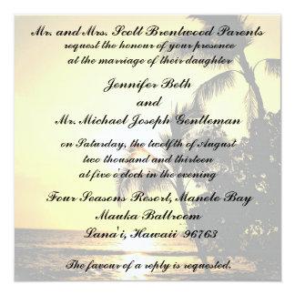 Tropical Beach Shoreline Wedding Card