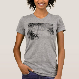 Tropical Beach South Wind Vintage Art Tee