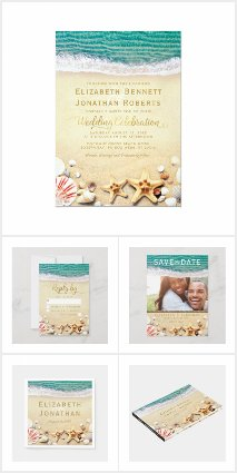 Tropical Beach Starfish Invitation Suite