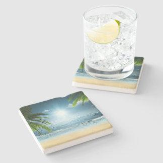 Tropical Beach Stone Coaster