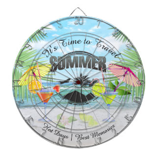 Tropical Beach, Summer Vacation | Personalized Dartboard