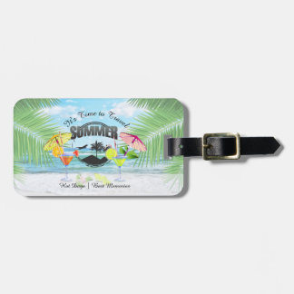 Tropical Beach, Summer Vacation | Personalized Luggage Tag