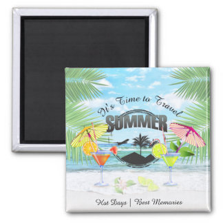 Tropical Beach, Summer Vacation | Personalized Magnet