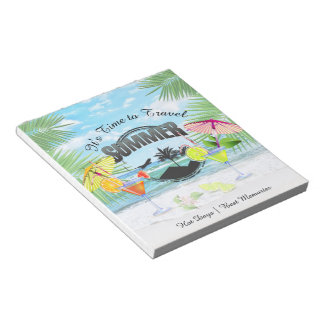 Tropical Beach, Summer Vacation | Personalized Notepad