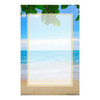 Tropical Beach Sun Sand and Sea Stationery