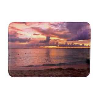 Tropical Beach Sunset Bath Mat