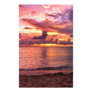 Tropical Beach Sunset Flyer