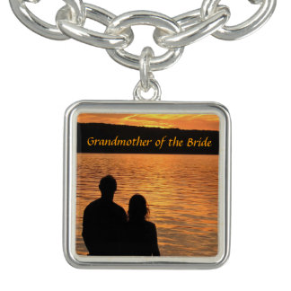 Tropical Beach Sunset Grandmother of the Bride Bracelet