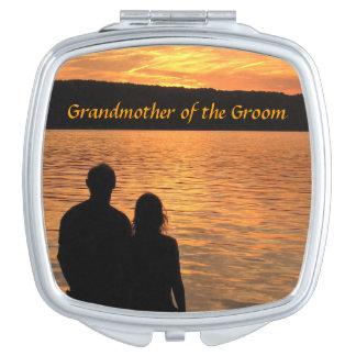 Tropical Beach Sunset Grandmother of the Groom Makeup Mirror