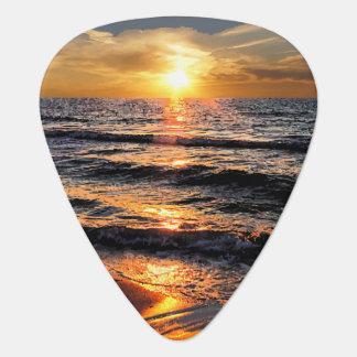 Tropical Beach Sunset Guitar Picks