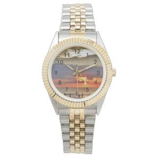 Tropical Beach Sunset Wrist Watches