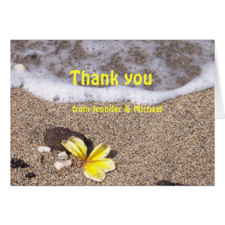 Tropical Beach Thank You cards