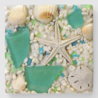 Tropical Beach Theme Drink Coasters