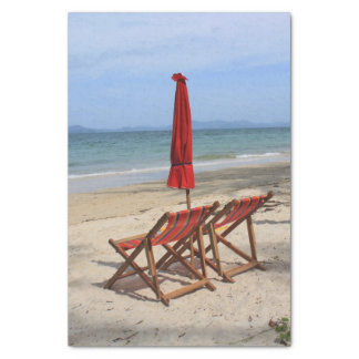 tropical beach tissue paper