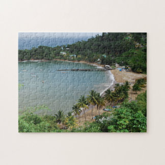 Tropical Beach Trinidad and Tobago. Jigsaw Puzzle