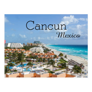 Tropical Beach Vacation Cancun Mexico Postcard
