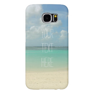 Tropical Beach Vacation Customizable Quote Samsung Galaxy S6 Cases