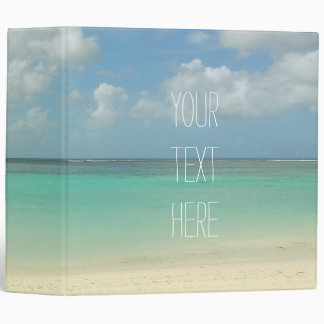 Tropical Beach Vacation Customizable Quote Vinyl Binder