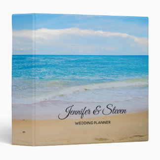 Tropical Beach Vacation Island Wedding Planner 3 Ring Binder