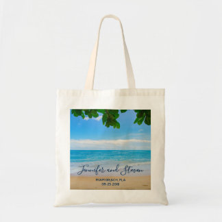 Tropical Beach Vacation Island Wedding Tote Bag