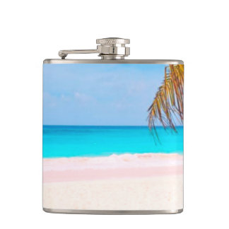 Tropical Beach View Flask