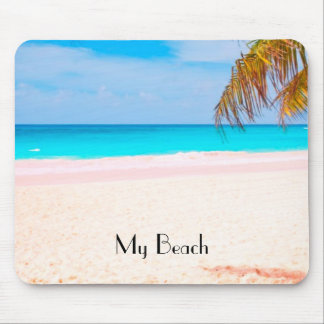 Tropical Beach View Mouse Pad
