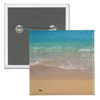 Tropical Beach - Waikiki Oahu Hawaii Buttons