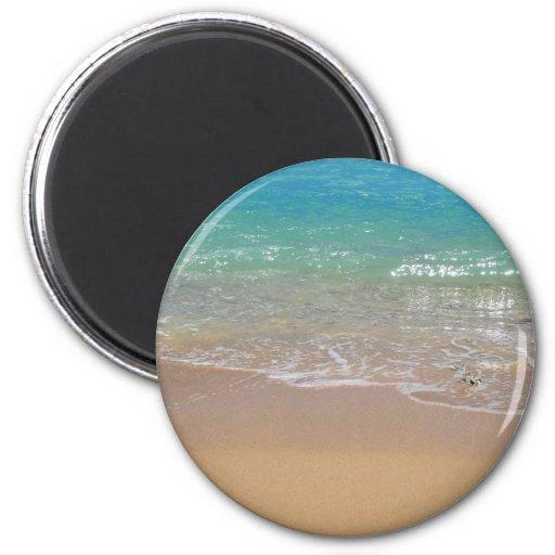 Tropical Beach - Waikiki, Oahu, Hawaii Fridge Magnets