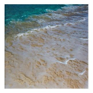 Tropical Beach Waves Acrylic Print