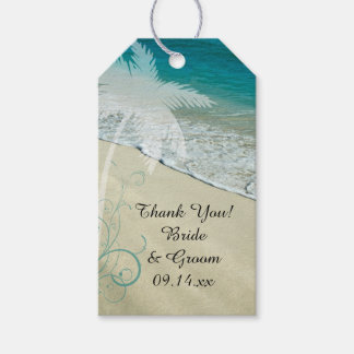 Tropical Beach Wedding Favor Tag Pack Of Gift Tags