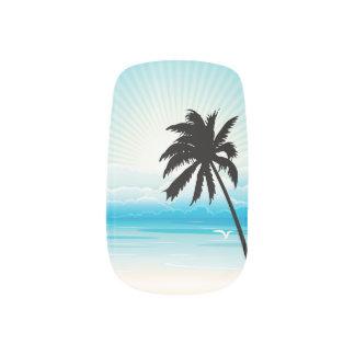Tropical Beach Wedding Minx Nail Art