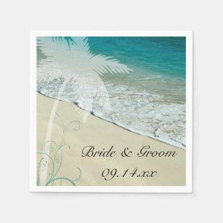 Tropical Beach Wedding Paper Napkins