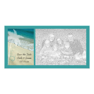 Tropical Beach Wedding Save the Date Photo Greeting Card