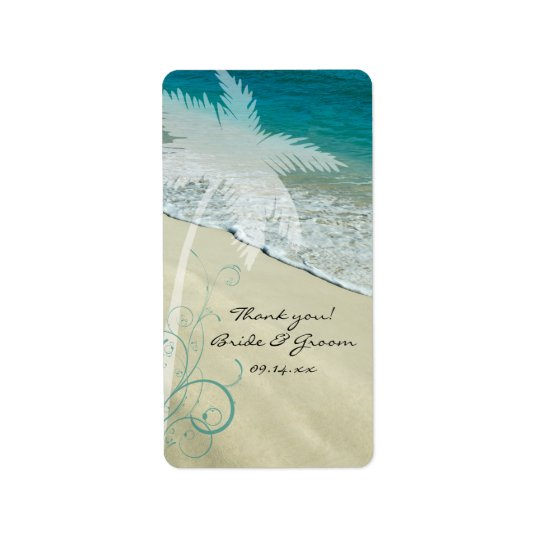 Tropical Beach Wedding Thank You Favour Tags