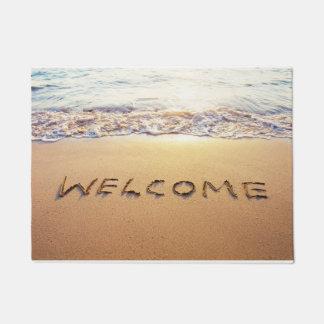 """Tropical Beach Welcome Door Mat 18"""" x 24"""""""