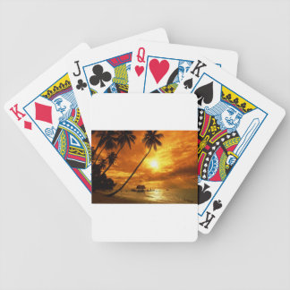 TROPICAL BEACH WISH YOU WERE HERE CUSTOM POSTCARD BICYCLE PLAYING CARDS