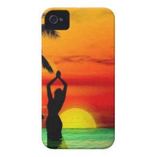TROPICAL BEACH WISH YOU WERE HERE CUSTOM POSTCARD iPhone 4 COVERS