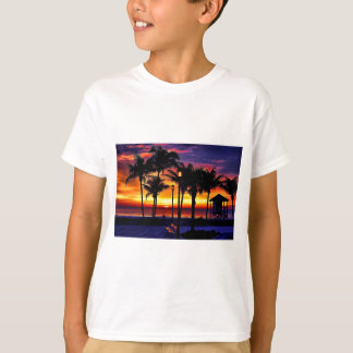 TROPICAL BEACH WISH YOU WERE HERE CUSTOM POSTCARD T-Shirt