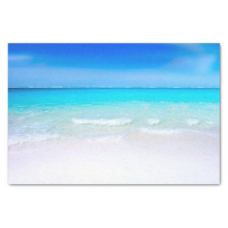 Tropical Beach with a Turquoise Sea Tissue Paper