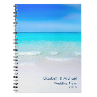 Tropical Beach with a Turquoise Sea Wedding Plans Spiral Notebook