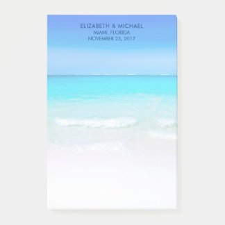 Tropical Beach with a Turquoise Sea Wedding Post-it Notes