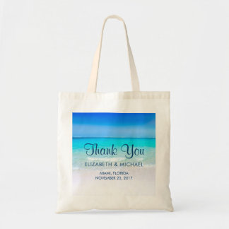 Tropical Beach with a Turquoise Sea Wedding Tote Bag