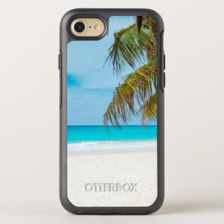 Tropical Beach with Palm Trees OtterBox Symmetry iPhone 8/7 Case