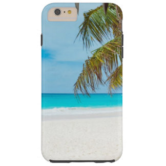 Tropical Beach with Palm Trees Tough iPhone 6 Plus Case