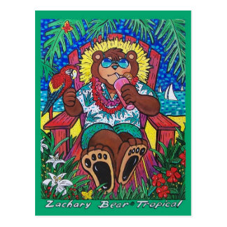 Tropical Bear Post Card